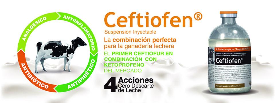 La primera combinación de ceftiofur y ketoprofeno del mercado