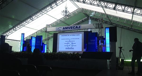Agrovet Market Animal Health Mexico present in AMVECAJ 2016, Tepatitlán Jalisco, February 2016