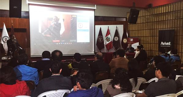 Agrovet Market sponsor talk in poultry during the commemoration of the Golden Jubilee Veterinary Medical College of Peru