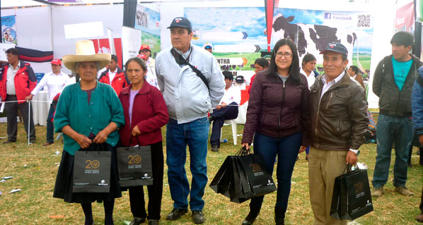 Agrovet Market Animal Health present as a sponsor in the 2014 XI Gloria S.A. Livestock Breeders in Cajamarca