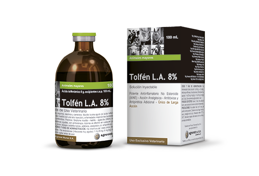 Tolfén L.A. 8%® | Tolfemax A.P. 8% long- acting non steroidal anti-inflammatory