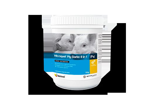 Microquel® Pig Starter 8 in 1 Px microelementos orgánicos quelatados y protegidos con metionina para lechones en etapa de inicio