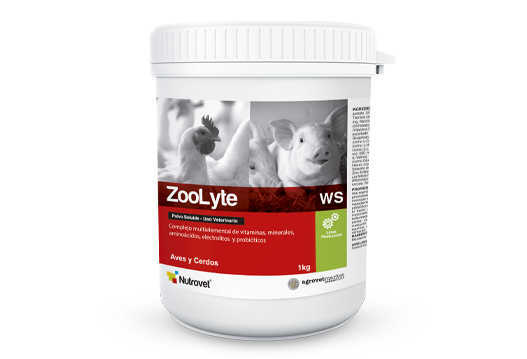 ZooLyte® WS multielement complex of vitamins, minerals, electrolytes, amino acids and probiotics.