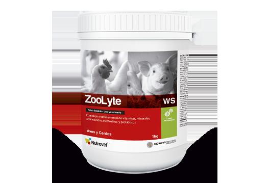 ZooLyte® WS complejo multielemental de vitaminas, minerales, electrolitos, aminoácidos y probióticos.