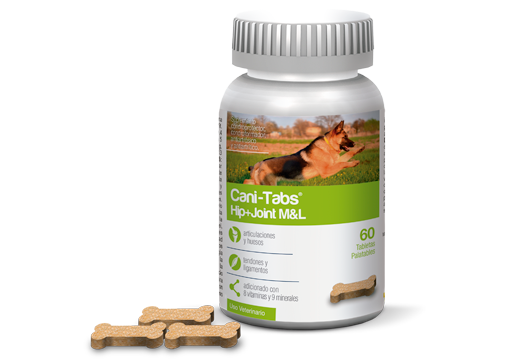 Cani-Tabs® Hip + Joint M&L condroprotector y antioxidante