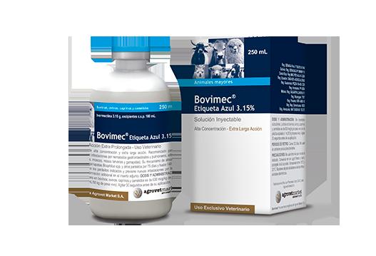 Bovimec® Etiqueta Azul 3.15% endectocida tixotrópico de acción extra prolongada