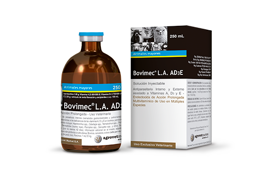 Bovimec® L.A. AD3E long-acting associated whith vitamin a,d3 and e