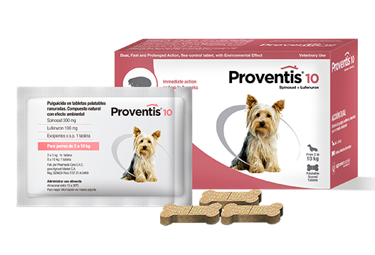 Proventis® 10 ectoparasiticide in palatable tablets. natural compound with environmental effect.