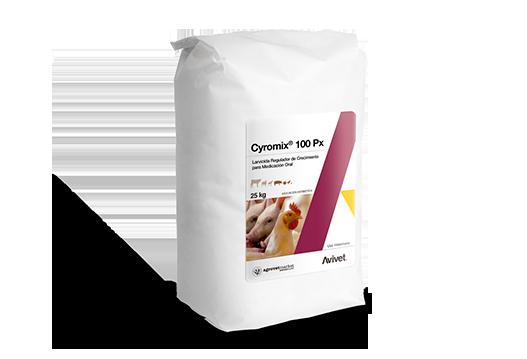 Cyromix® 100 Px growth regulator larvicide for oral medication.