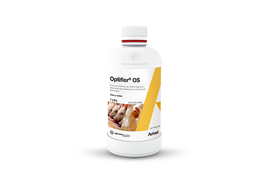 Optiflor® OS powerful broad spectrum antibiotic and low bacterial inactivation resistance index