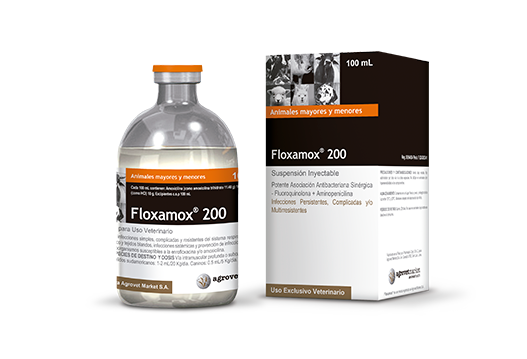 Floxamox® 200 powerful synthetic broad spectrum antibacterial association - fluoroquinolone + aminopenicillin
