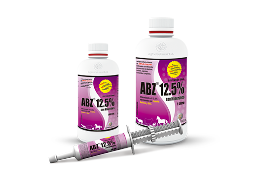 ABZ® 12.5% con Minerales broad-spectrum antiparasitic whith minerals