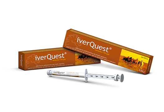 iverQuest® endectocida oral exclusivo para equinos